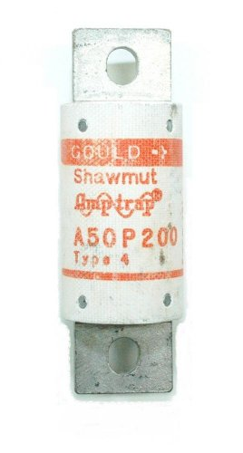1- FERRAZ SHAWMUT A50P200-4 500V 200 AMP Semiconductor Fuse, Very Fast Acting, 500 VAC 450 VDC, 200A, Interrupting Rating 100K A50P200 4 - Ferraz Semiconductor Fuses