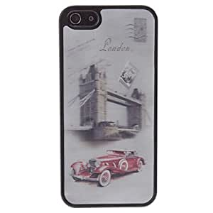 DUR 3D Effect London Style Car Pattern Durable Hard Case for iPhone 5/5S
