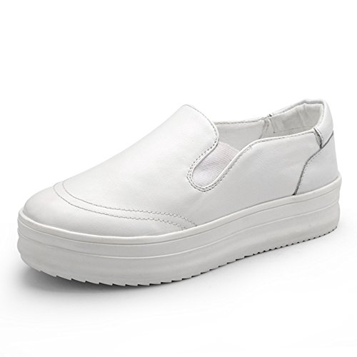 Womens Waking Shoes Air Cushion Slip On Sport Sneakers By Btrada White