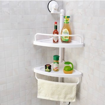 HOME CUBE TM Shower Shelf Caddy Bath Corner Storage Organizer Sucker ...