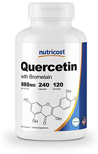 Nutricost Quercetin 880mg, 240 Veggie Capsules with Bromelain (165mg) - 120 Servings - Gluten Free, Non-GMO