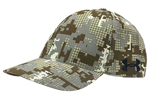 Under Armour Digi Camo Golf Cap Hat Curved Bill White/Digi Camo 1285134-280-L/XL (White Camo Under Armour Hat)