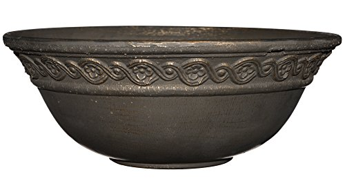 "Corinthian Bowl 12"" Planter, Oil Rubbed Bronze"