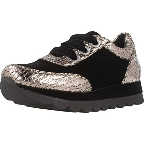 and Antracite Laced Printed Velvet Cafè Sneakers Synthetic 277 in Noir JDB954 WqFqYRAT
