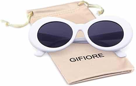 2e1b09536ea Bold Retro Oval Mod Thick Frame Sunglasses Clout Goggles with Round Lens