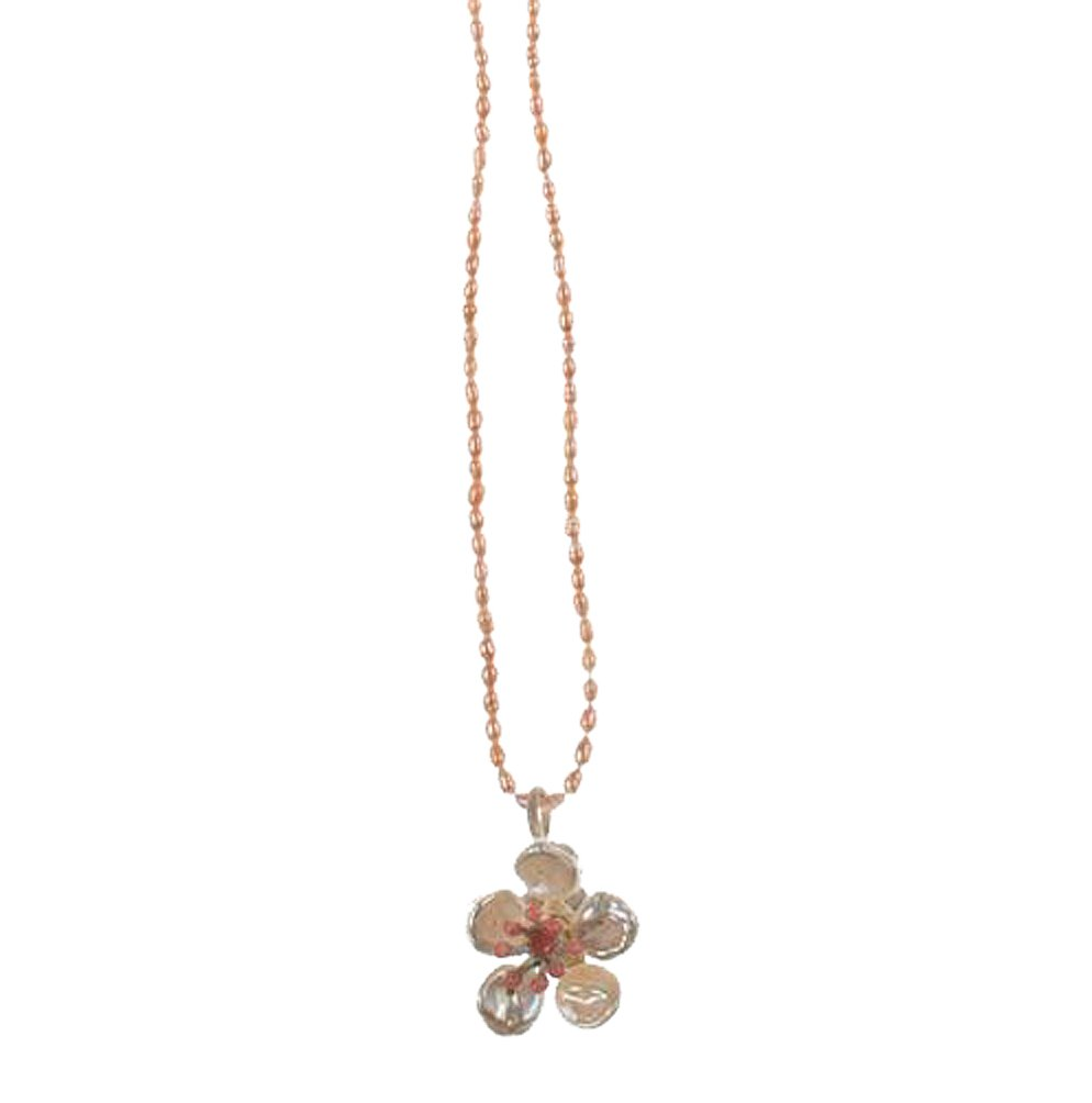 ''Cherry Blossom'' Delicate Pearl Necklace by Michael Michaud for Silver Seasons by Michael Michaud