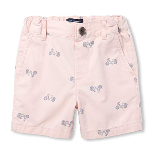 (The Children's Place Baby Boys Printed Bermuda Shorts Pink Tinge 2T)