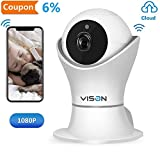 VINSION 1080p Wireless WiFi IP Camera with 3D Navigation Panorama, Home Security Surveillance Video Camera for Baby/Elder/Pet/Nanny Monitor with Night Vision and Two Way Audio
