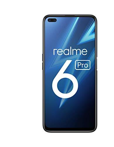 "realme 6 Pro – Smartphone de 6.6"", 8 GB RAM + 128 GB ROM, Procesador OctaCore Snapdragon 720G, Cuádruple Cámara AI 64MP…"