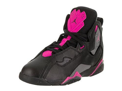 Jordan Kids True Flight GP Black Dark Grey Deadly Pink Size 12.5 (Air Jordan Flight Pink)