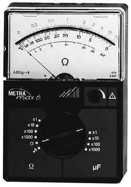 GMC-I Messtechnik Widerstandsmessgerät METRAmax 6 analoge Anzeige Multimeter 4012932100471