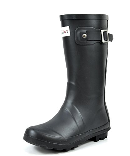 [Arctiv8 KORIGIN Kids Rubber Outdoor Waterproof Pull On Rain Boots New Black Size 6 Big Kid] (Black Kids Boots)