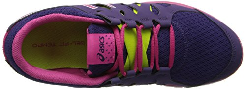 Asics Womens Gel Fit Tempo Scarpa Cross-training Viola / Hot Pink / Lime