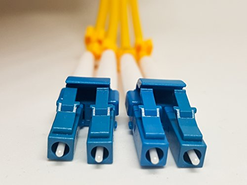 LC to LC 1M SingleMode fiber optic patch cable. Israeli Cutting Edge Technology, LC/LC Duplex 9/125. Single Mode 1m(3.28ft) Fiber Patch Cable,Single Mode Fiber Cables LC To LC,3MM Yellow PVC.