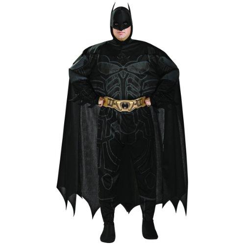 Adult Plus Size Batman Costumes (Batman The Dark Knight Rises Adult Batman Set, Black, Plus)