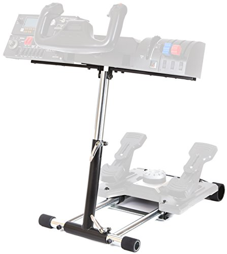 Flight Sim Yoke Pedals - Wheel Stand Pro S Compatible with Saitek Pro Flight/Cessna Yoke System;Yoke Support; Wheel Stand Only Flight System Not Included