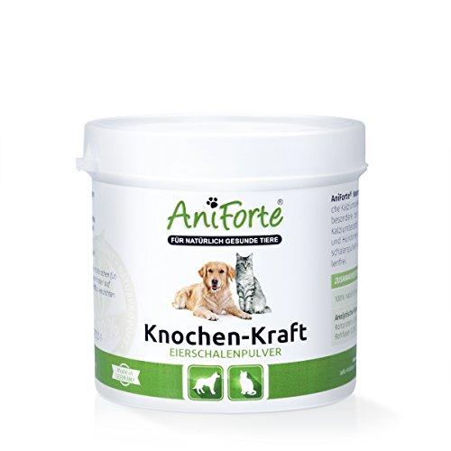 AniForte Knochen-Kraft Eierschalenpulver 250 g Calcium Knochenaufbau- Naturprodukt für Hunde und Katzen