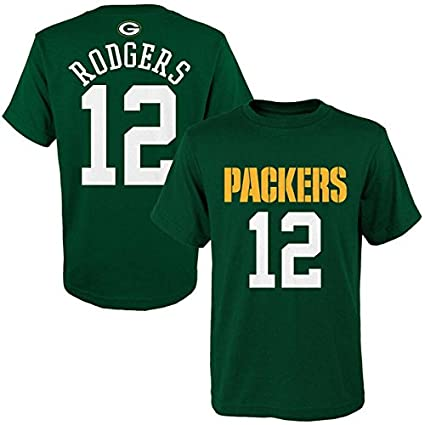 58f528d4f Outerstuff Green Bay Packers Kids Green Aaron Rodgers Mainliner T-Shirt -  Small 4