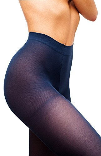 Opaque Tights 40Den Womens Matte Top Nylon Pantyhose Hosiery,Navy,3 - Medium (Cheerleading Outfits Cheap)