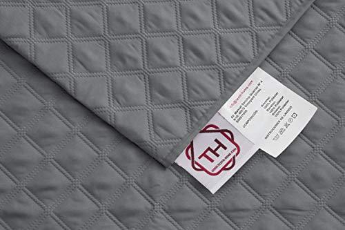 Textilhome – Housse Fauteuil Relax Circus, Protection rembourrée 1 Places. Housse Matelasse. Couleur Grey