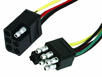 6 pole square trailer wiring connector 6 image amazon com camco 64860 6 way square complete trailer connector on 6 pole square trailer wiring