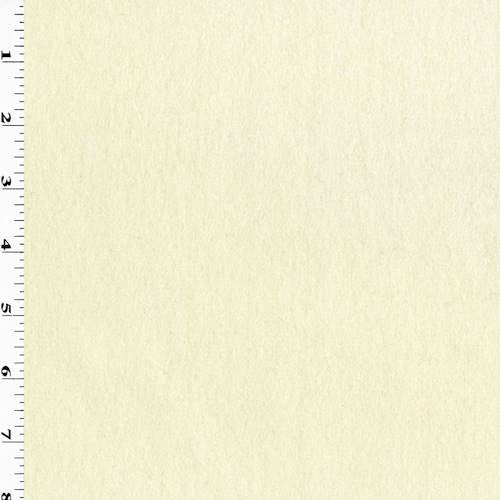 (Cream Ivory Boiled Wool Blend Coating, Fabric by The Yard)