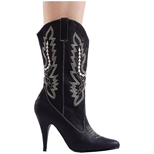 Ellie Shoes Women's 418-Cowgirl Western Boot Black
