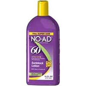 No-Ad Spf 60 Sunscreen Lotion 16 Ounce 473ml 6 Pack