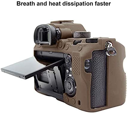 Camouflage ILCE-9 Ychaoya Camera Case Wuzpx Balmy Silicone Protective Case for Sony A9 Color : Coffee