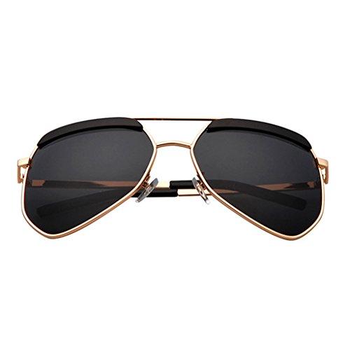 Color Blue la de UV400 gray polarizadas Clásicas 64mm sol Moda Calle Gafas Moda Black de Sapphire PwOqRR