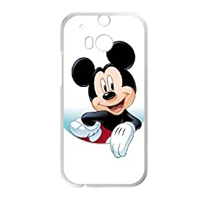HTC One M8 Cell Phone Case White Disney Mickey Mouse Minnie Mouse Riuzd