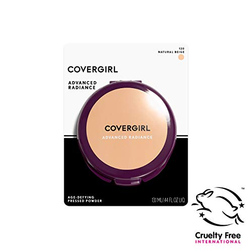 COVERGIRL Advanced Radiance Age-Defying Pressed Powder, 1 Container (.39 oz) Natural Tone, Creamy Facial Powder, Sensitive Skin Safe (packaging may vary)