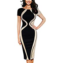 IEason Women Dresses Fashion Womens Bodycon Short Sleeve Party Business Style Pencil Mini Dress