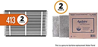 product image for Aprilaire 413 Replacement Air Filter for Aprilaire Whole Home Air Purifiers, Healthy Home Allergy Filter, MERV 13 (Pack of 2) + 10 Replacement Water Panel for Aprilaire Whole House Humidifier Models