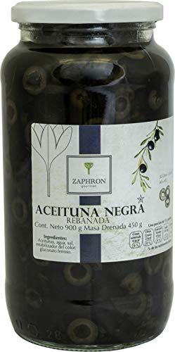 Zaphron Gourmet Aceituna Negra Rebanada, 900g