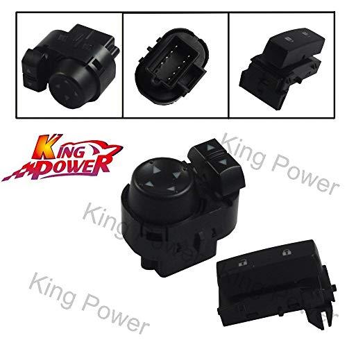 Fincos KP- - Mirror Control Switch + Door Lock Switch for 2007-13 GMC Sierra Chevy Silverado - (Brand: New)