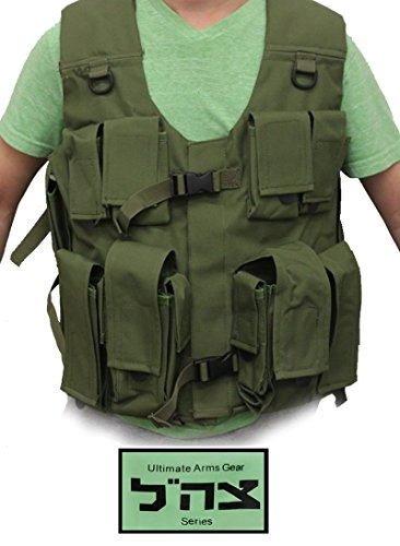 Ultimate Arms Gear Tzahal Zahal IDF Series OD Green Vest Inspired By The Israel Defence Forces Combat Special Forces Tactical - Special Armor Body Operations