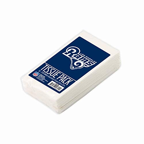 Worthy Promo NFL LA Rams Party Favors & Party Supplies Tissue Packs 10-Pack