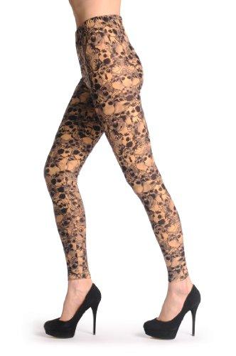 Laughing Skulls On Nude - Beige Leggings Taille Unique (32-38)