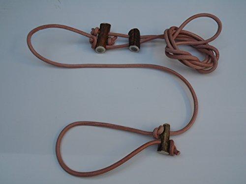 Lautlose Pirschleine, Hundeleine, Naturleder Umhängeleine (7mm)