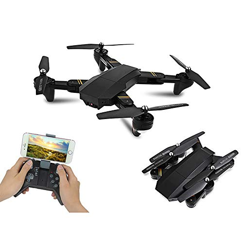 DZSM Quadcopter, Folding high-Altitude Aerial Drone, HD WiFi Real-time Image Transmission Quadcopter, Remote Control Aircraft ()