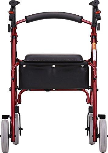 NOVA 22'' Zoom Rollator Walker, Red by NOVA Medical Products (Image #1)