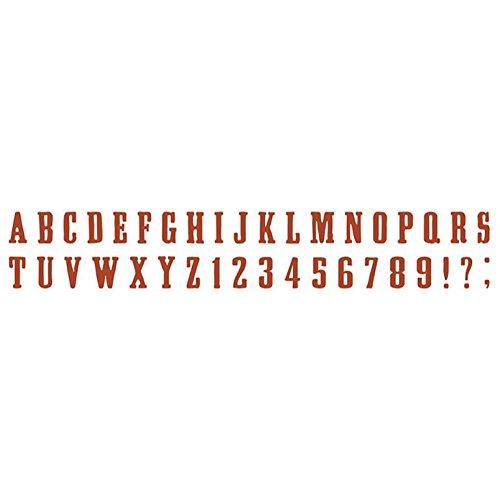 Sidekick Decorative Strip - Sizzix Sizzlits Decorative Strip Die, 12.625 by 2.375-Inch, Alphabet