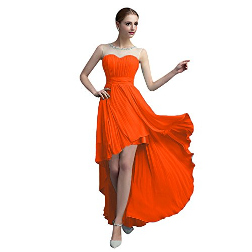 Vimans -  Vestito  - linea ad a - Donna Orange 46