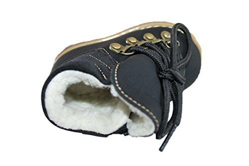 rock and joy-chaussure boots fourrées-noire-garçon