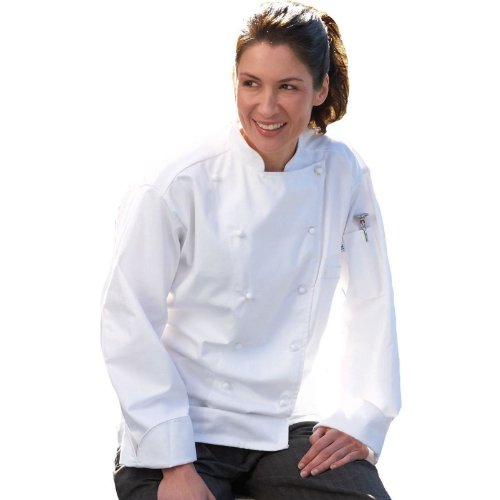 Uncommon Threads Carrara Chef Coat in White - Small by Uncommon Threads
