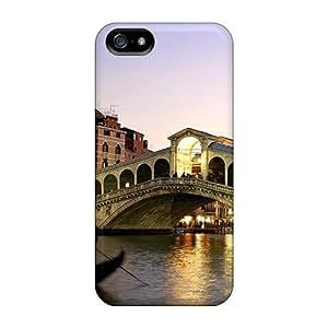 GEQDxLT2972OsqsO Case Cover Rialto Bridge Grand Canalveniceitaly Iphone 5/5s Protective Case