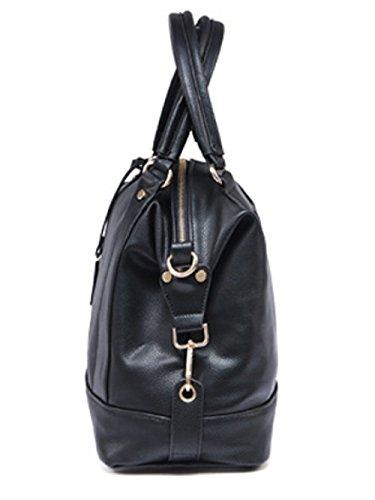 Sac Sac à à Main Lady Bandoulière Sac à Cuir Black Mode Vrac Rétro En Shopping Bandoulière 5Oxw0q