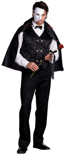 Dreamgirl Men's Mysterious Phantom of the Opera Costume