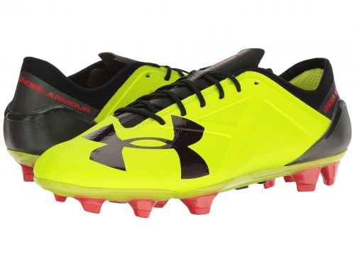 Under Armour(アンダーアーマー) メンズ 男性用 シューズ 靴 スニーカー 運動靴 UA Spotlight FG High-Vis Yellow/Rocket Red/Black [並行輸入品] B07BDFJ8FZ 10.5 D Medium